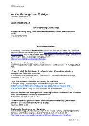 100000 Liste Veröffentlichungen Vorträge - Bucerius Center on the ...
