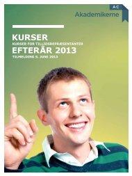 Kursuskatalog for efterår 2013