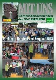 MIT UNS Juli 2013 - in der Gemeinde Pirching/Traubenberg