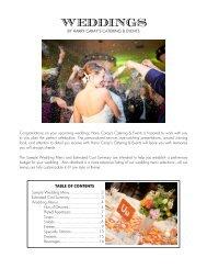 WEDDINGS - Harry Caray's Restaurant