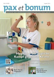 Hygiene – der tägliche Kampf gegen die Keime - Franziskanerbrüder