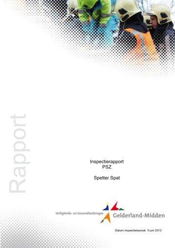 rapport PSZ Spetter Spat 08-06-2012 - VGGM
