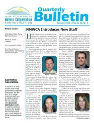 Quarterly Bulletin - New Mexico Workers Compensation Administration