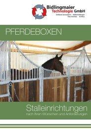 Pferdeboxen Stalleinrichtungen - Bidlingmaier Technologie GmbH