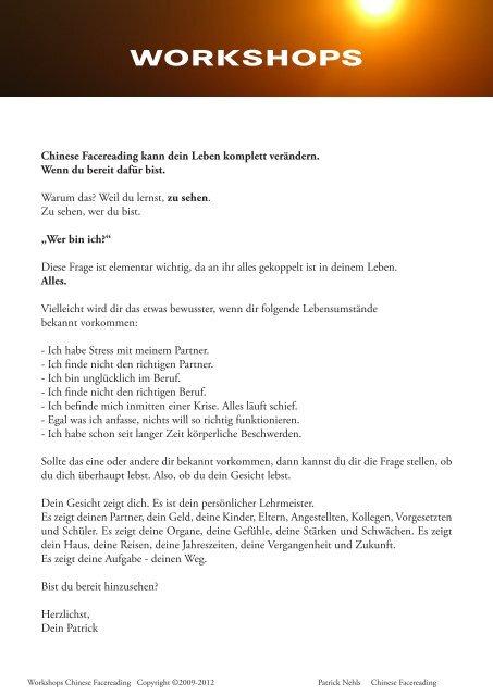 Chinese Facereading - Gesundheitszentrum Schwerin
