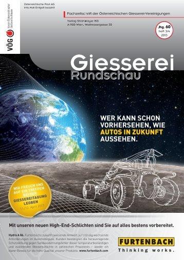 Heft 3/4 - Verein österreichischer Gießereifachleute