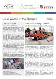 Heft 21/2013 vom 15. August 2013 - Diese Woche in Mainhausen