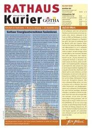 Rathaus Kurier : Amtsblatt der Stadt Gotha