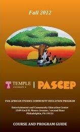 Fall 2012 - Temple University