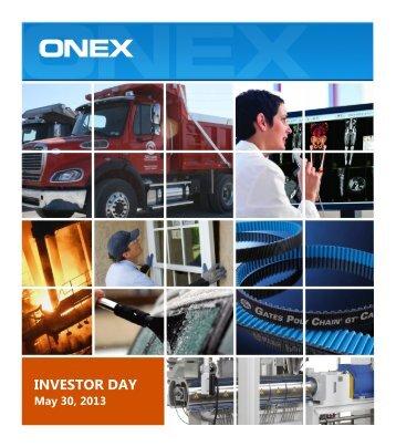 Onex 2013 Investor Day Presentation