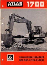 Technische Daten Prospekt AB 1700 Raupenbagger von 1967