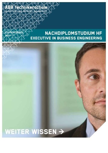 Studienführer Dipl. in Business Engineering NDS HF - ABB ...
