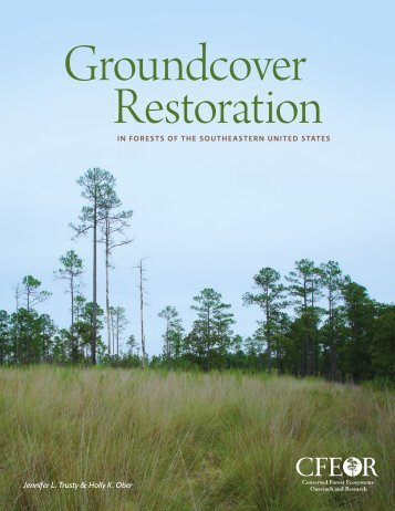 Groundcover Restoration in Forests of the Southeastern United States
