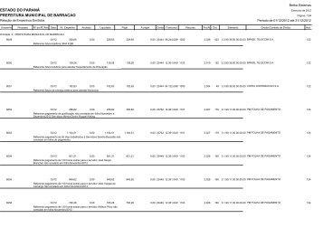 Empenhos Emitidos - Prefeitura Municipal de Barracão