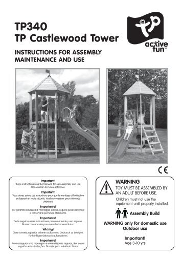 TP340 Castlewood Tower IN3100 Issue B 06 12 - TP Toys