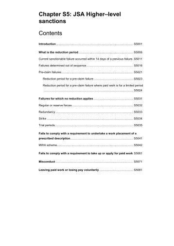 Chapter S5 - JSA higher-level sanctions - Gov.uk