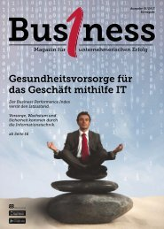 Bus1ness Magazin Oktober 2013 - RConsulting GmbH & Co. KG