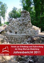 Jahresbericht 2011 - Burgruine Ried