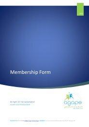 Membership Form (.PDF) - Agape Youth Movement
