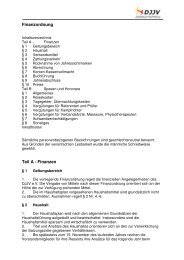 Finanzordnung Teil A - Finanzen - Deutscher Ju-Jutsu Verband e.V.