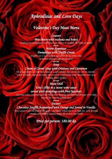 Aphrodisiac and Love Days