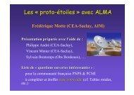 Les « proto-étoiles » avec ALMA - Graal