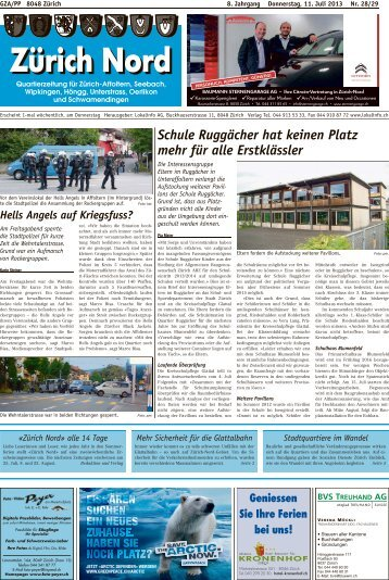 Schule Ruggächer hat keinen Platz mehr für alle ... - Lokalinfo AG