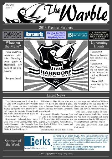 May 2013 Issue 8 vs Mt Lofty - Hahndorf Football Club