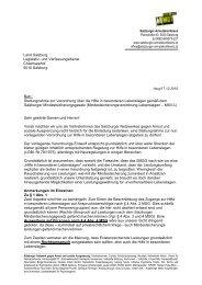 Stellungnahme zur Verordnung Hilfe in besonderen Lebenslagen