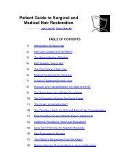 Patient Guide to Surgical and Medical Hair Restoration