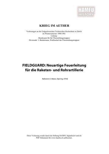 FIELDGUARD, Neuartige Feuerleitung für die ... - Stiftung HAMFU