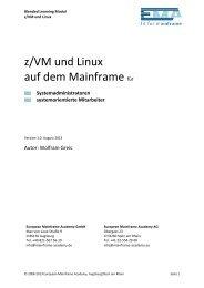 z/VM und Linux - European Mainframe Academy