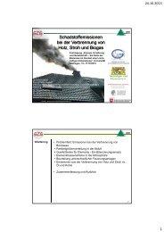 Holz - Energiequelle und Emissionen - Nachhaltige Nutzung von ...