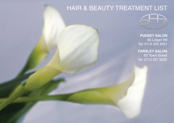 Download a pdf of this Brochure - pH7 Hairworks and Beauty