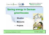 Saving energy in German greenhouses - D. Ludolph - PCS