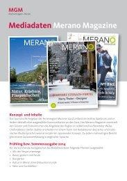 Mediadaten Merano Magazine - MGM