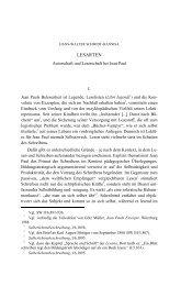 LESARTEN - Jean-Paul-Gesellschaft