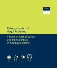 Produktbroschüre - Gogol Publishing