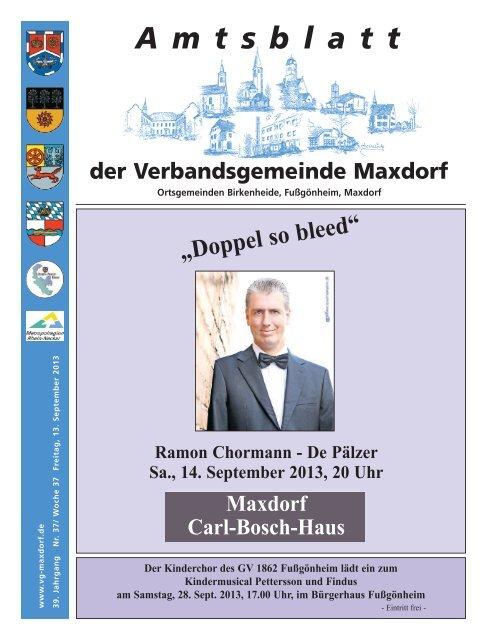 Kw 37 Verbandsgemeinde Maxdorf