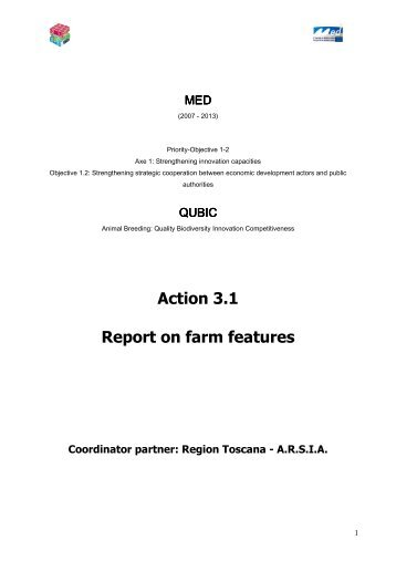 Action 3.1 Report on farm features - Programme Med