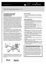 VERITAS Replication Exec™ 3.1