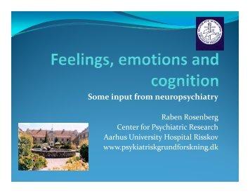 Some input from neuropsychiatry