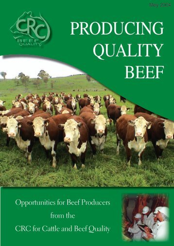 PRODUCING QUALITY BEEF - Beef CRC