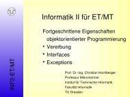 Informatik II für ET/MT - Professur für Mikrorechner