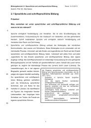 Sprachliche und schriftsprachliche Bildung - bildungsplan.uni-jena.de