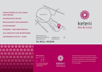 Tel. 06 21 - 44 10 04 - Keleni Rice & Curry