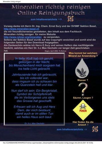 Mineralien-Reinigung - rohner.org
