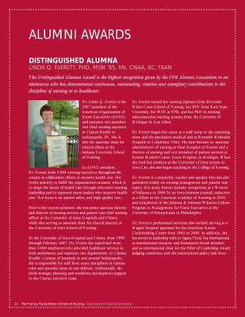 ALUMNI AWARDS - Frances Payne Bolton School of Nursing - Case ...