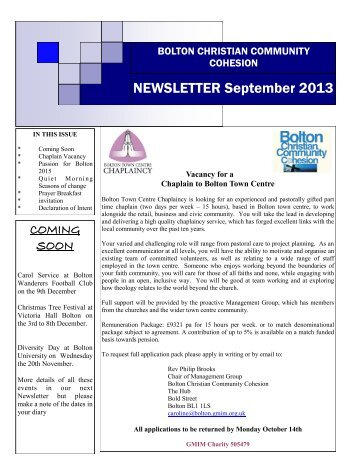 Newsletter Sept 2013 - GMIM