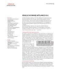 Oracle Database Appliance Datenblatt - MBR Network